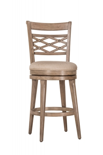 Chesney Swivel Counter Stool - Weathered Gray