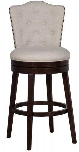 Edenwood Swivel Bar Height Stool - Cream Fabric