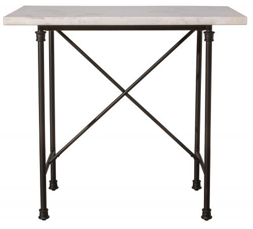 Castille Counter Height Table - Black/White