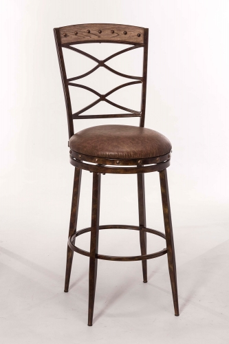 Emmons Swivel Counter Stool - Washed Gray