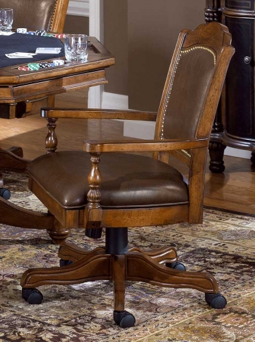 Hillsdale Nassau Game Chair - Leather