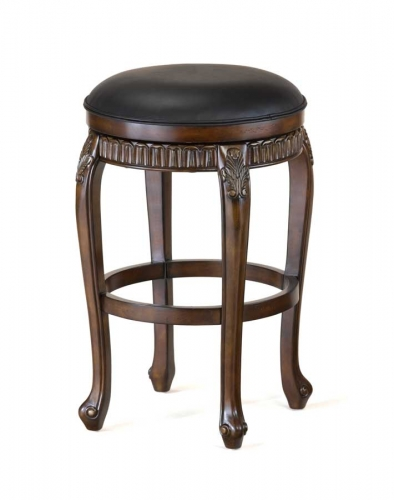 Fleur De Lis Swivel Wood Counter Stool Backless 361 1636