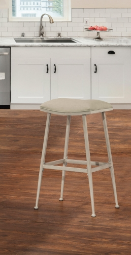 Flynn Indoor/Outdoor Backless Counter Stool - Whitewash