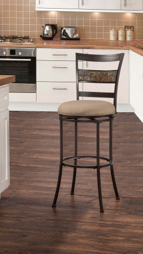 Henning Indoor/Outdoor Swivel Bar Stool - Midnight Mocha
