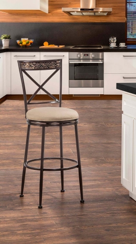 Pullman Indoor/Outdoor Swivel Bar Stool - Satin Beige