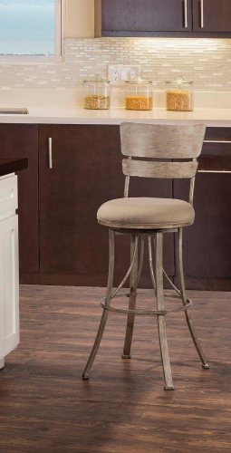 Wakefield Indoor/Outdoor Swivel Bar Stool - Champagne