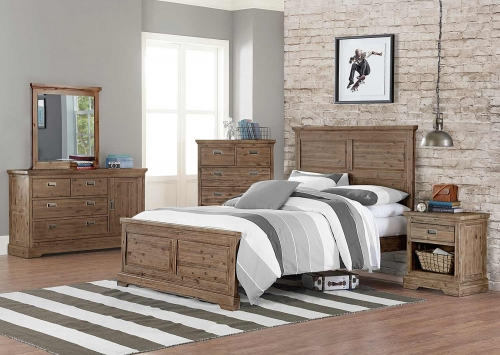 Oxford William Panel Bedroom Set - Cocoa