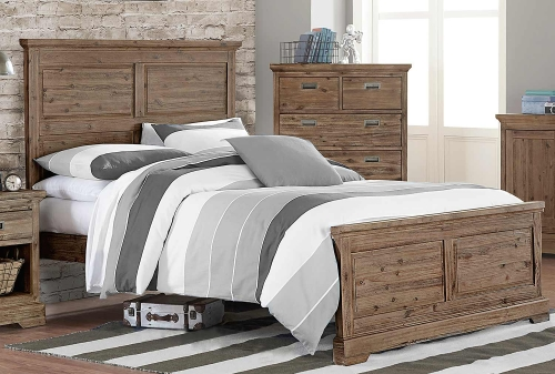 Oxford William Panel Bed - Cocoa