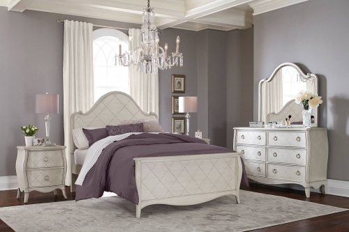 Angela Arc Panel Bedroom Set - Opal Grey