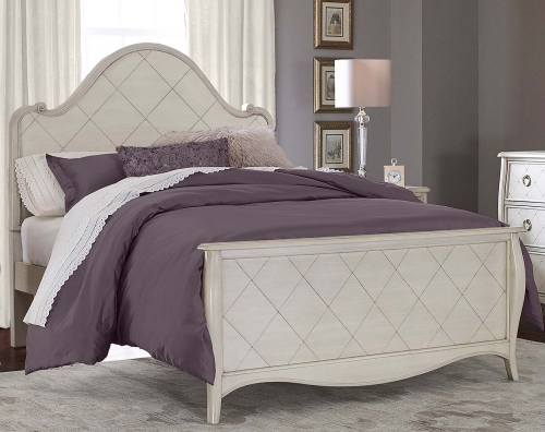 Angela Arc Panel Bed - Opal Grey