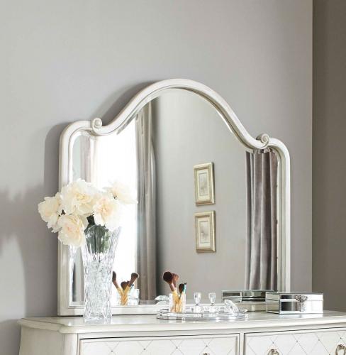 Angela Wood Arc Mirror - Opal Grey