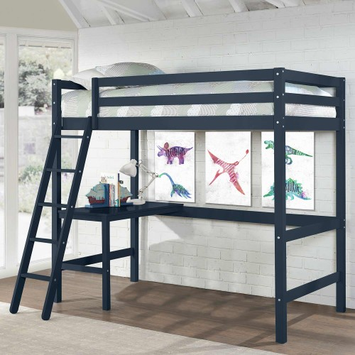 Caspian Twin Loft Bed - Navy