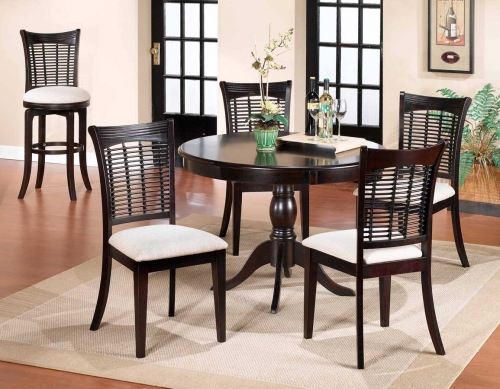 Bayberry Round Dining Collection - Dark Cherry