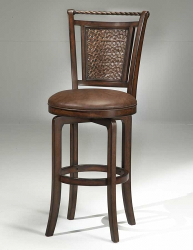 Norwood Copper Back Swivel Counter Stool