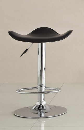 1146BLK Ride Swivel Stool - Black
