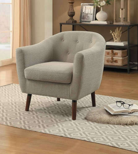 Lucille Accent Chair - Beige