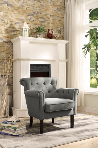 Barlowe Accent Chair - Grey