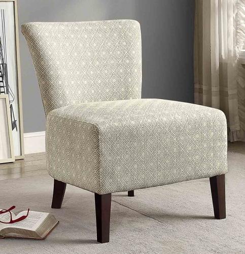 Cotati Accent Chair - Medium Blue/Cream