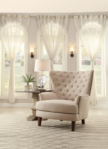 Rhett Accent Chair - Linen - Natural