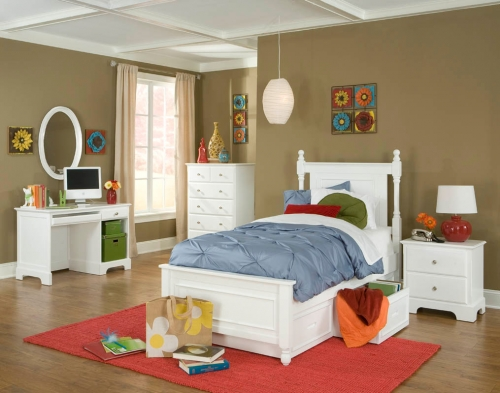 Morelle Captain's Bedroom Set - White