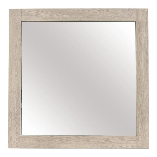 Whiting Mirror - Cream and Black