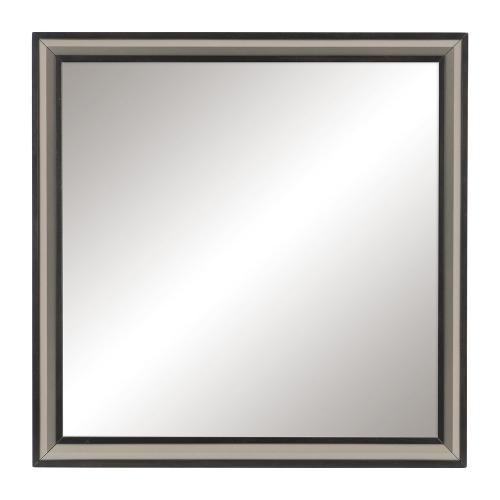 Grant Mirror - Ebony and Silver
