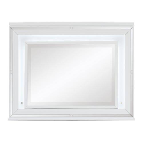 Tamsin Mirror - White Metallic
