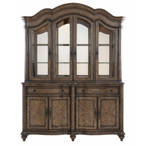 Heath Court China Cabinet - Brown Oak
