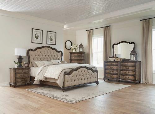 Heath Court Bedroom Set - Brown Oak