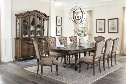 Heath Court Dining Set - Brown Oak