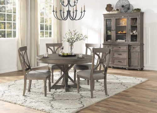 Cardano Round Dining Set - Driftwood Light Brown