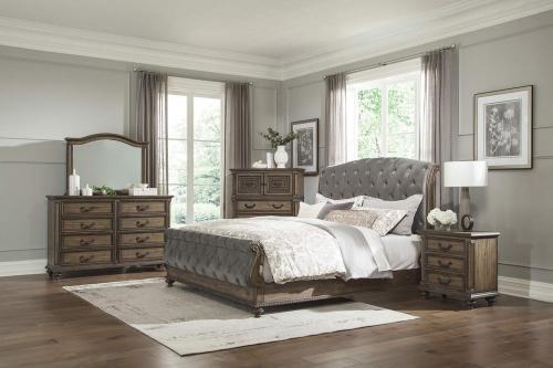 Rachelle Bedroom Set - Weathered Pecan