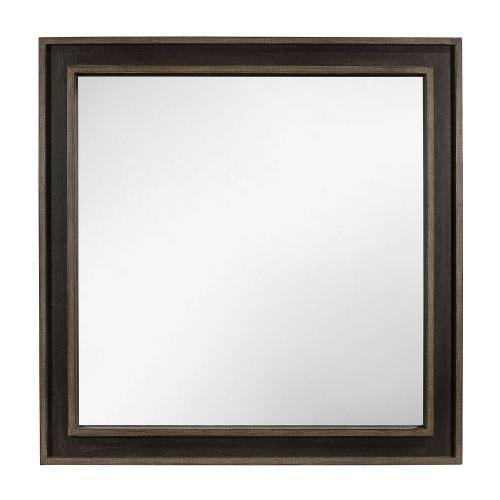 Ellendale Mirror - Rustic Mahogany and Dark Ebony