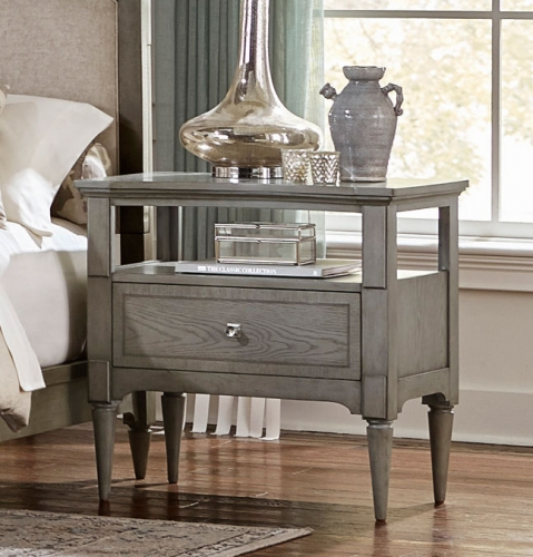 Albright Night Stand - Barnwood Grey