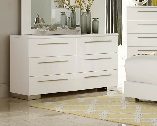 Linnea Dresser - High-Gloss White