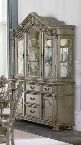 Catalonia China Cabinet - Platinum Gold
