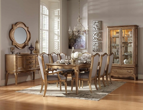 Chambord Dining Set - Antique Gold