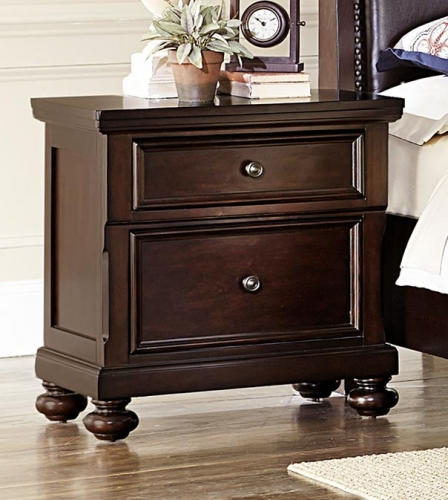 Faust Night Stand - Dark Cherry
