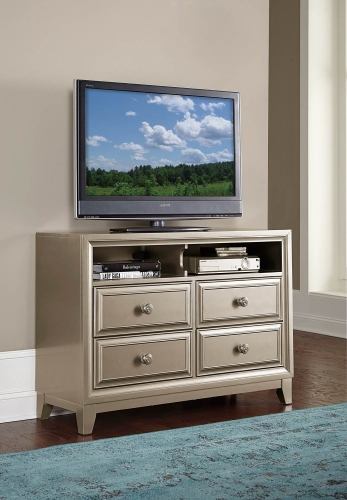Hedy TV Chest - Silver