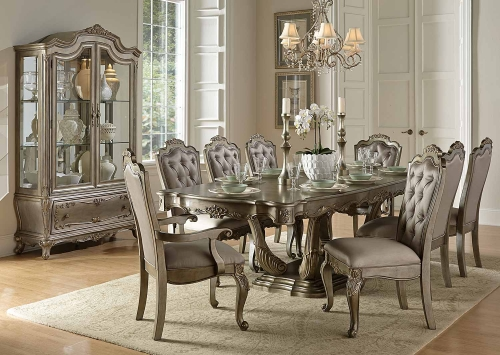 Florentina Dining Set - Silver/Gold