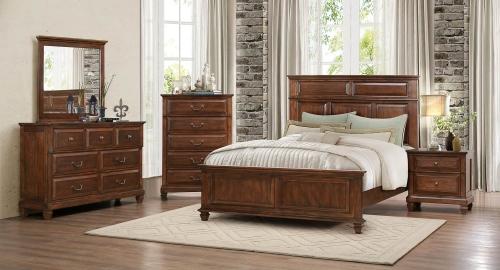 Bardwell Bedroom Set - Brown Cherry
