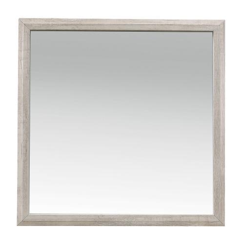 Nashville Mirror - Antique White and Brown