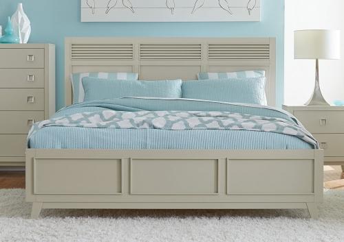 Valpico Panel Bed - Cool Grey/Olive Undertone
