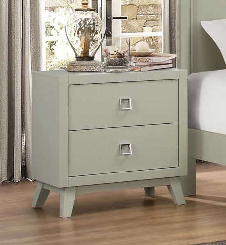 Valpico Night Stand - Cool Grey/Olive Undertone