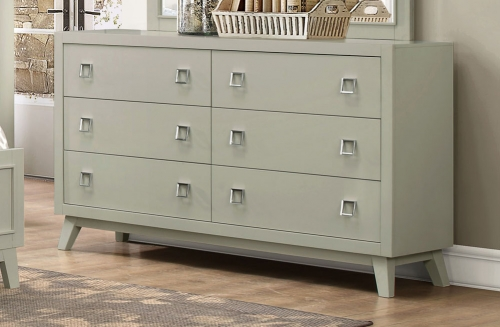 Valpico Dresser - Cool Grey/Olive Undertone