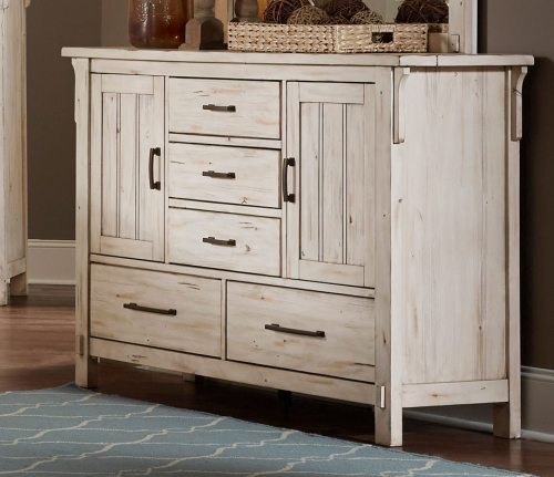 Terrace Dresser with Doors - Antique White