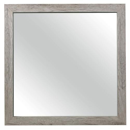 Mandan Mirror - Weathered Gray