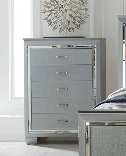 Homelegance Allura Chest - Silver