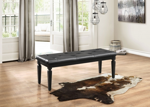 Homelegance Allura Bed Bench - Black