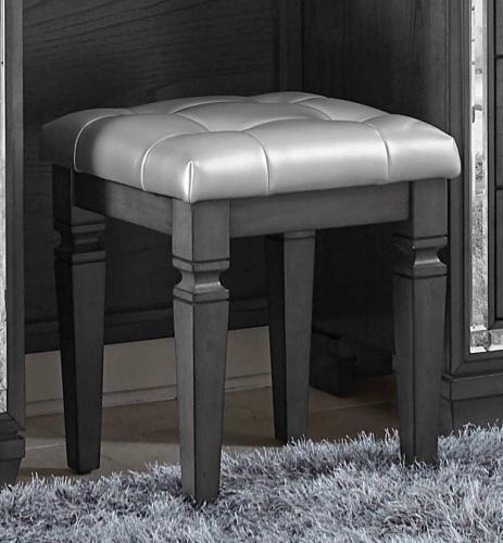 Allura Vanity Stool - Gray